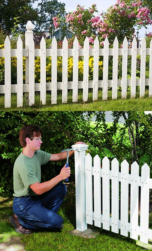 25 best ideas about white picket fences on pinterest for Make your own fence