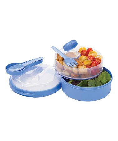 Loving this Blue On-the-Go Divided Lunch Container on #zulily! #zulilyfinds