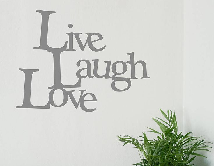 This U0027Live Laugh Loveu0027 Quote Will Look Amazing In Any Room! Vinyl Wall  StickersLive ...