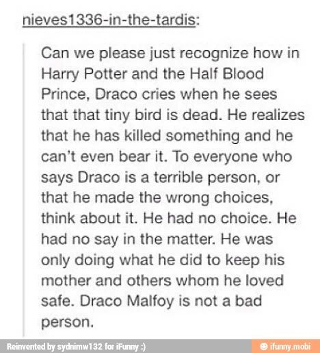 God, I totally agree. All my non Harry Potter friends always tell me he's the bad guy but it's not true!