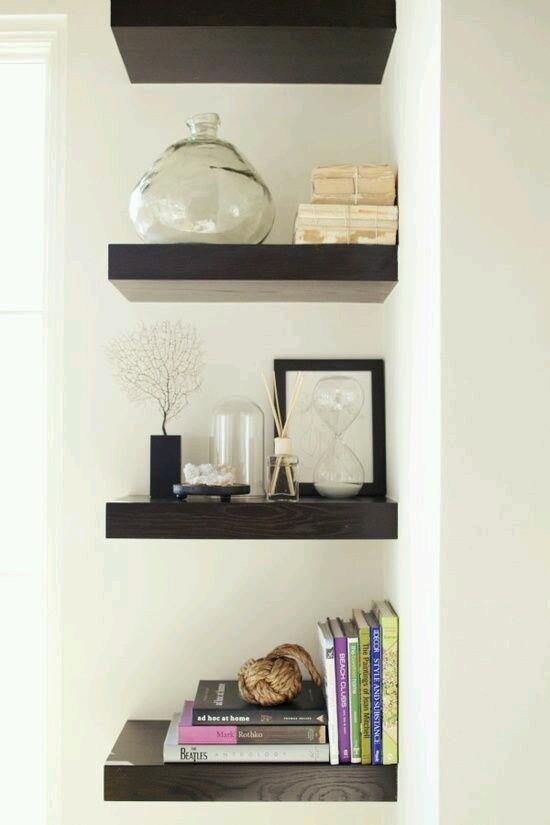 M s de 25 ideas incre bles sobre repisas decorativas en for Repisas para escaleras