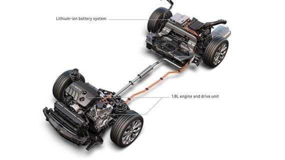 Схема силового агрегата Chevrolet Malibu Hybrid 2016 / Шевроле Малибу Гибрид 2016