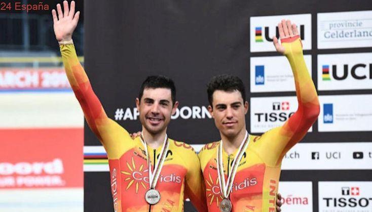 Los españoles Mora y Torres se cuelgan la plata en Madison de los Mundiales de ciclismo en pista