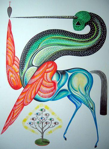 Daniel Higgs artwork by Savage Pink, via Flickr