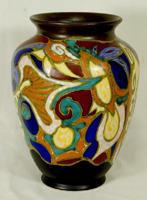 "Gouda pottery vase ""Breetyelt"", 20th c."