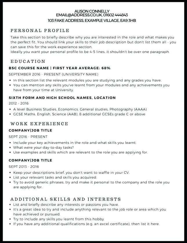 Hobbies To Include In Resume Writing A Cv Cv Examples Resume Examples