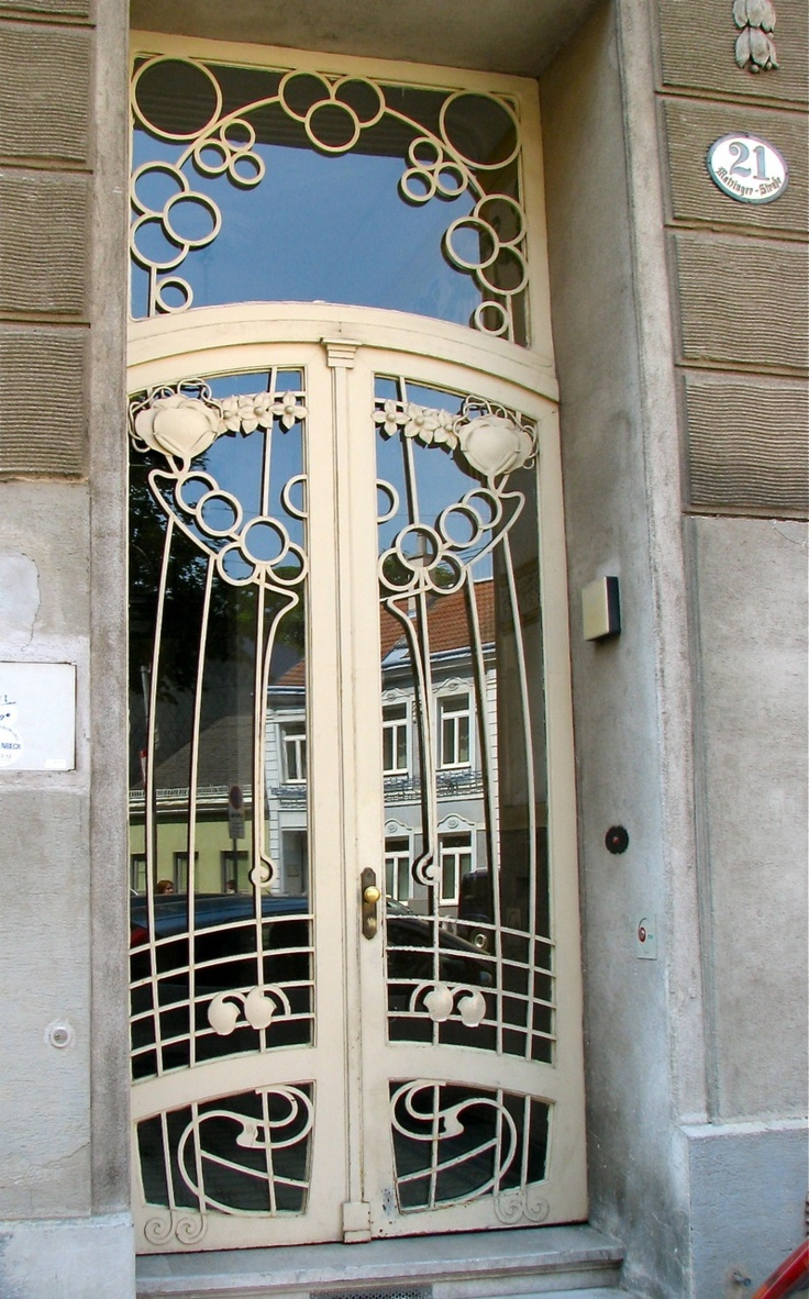 Art deco style architecture - Decoarchitecture Doorway Vienna Austria By Wienertueren Another Set Of Amazing Art Nouveau Doors This Is H Tteldorfer Stra E Remind Anyone Of Those