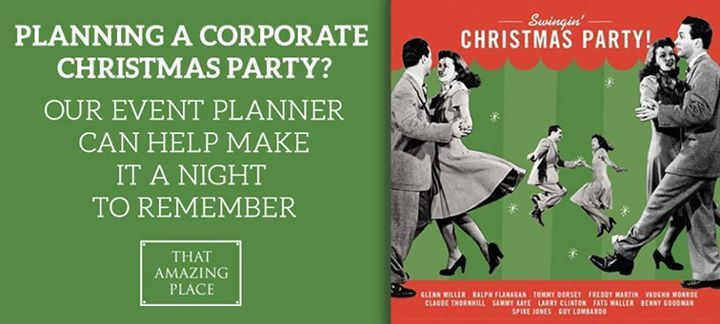 That Amazing Place Planning your corporate Christmas Party?  With our a stunning venue and onsite boutique accommodation we can provide a Christmas party night to remember! For more information contact Angie on 07955 940532 or enquiries@thatamazingplace.co.uk #christmasparty #essex