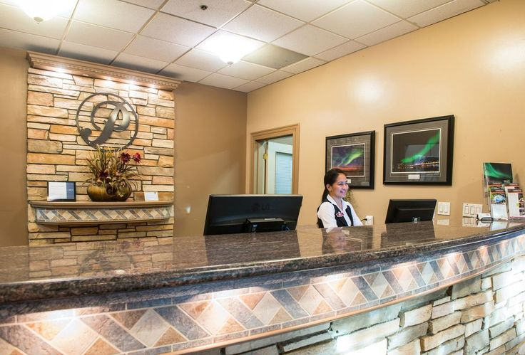 Our front desk at the Podollan Inn in Fort McMurray | Fort McMurray Travel | Places to stay in Fort McMurray | Boutique Hotel |
