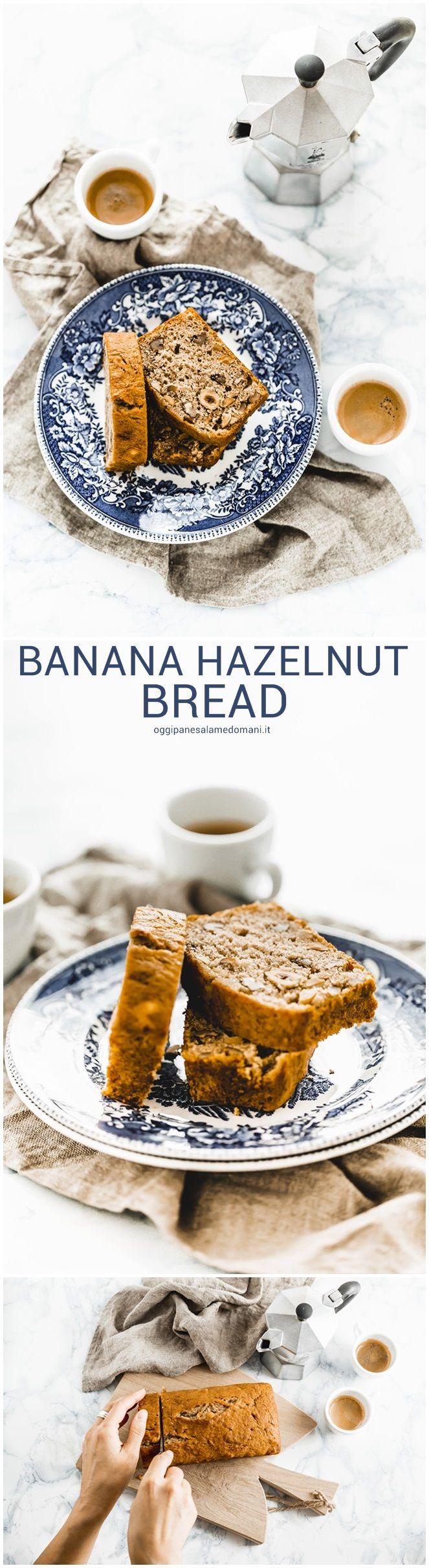 banana hazelnut bread - banana hazelnut cake - banana hazelnut loaf - banana bread alle nocciole - cake alle nocciole e banane - torta di banane e nocciole