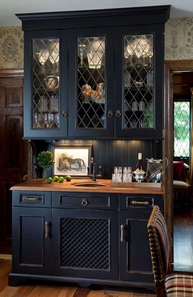 A closer look at this Wood-Mode hutch brings to light the intricacies of Wood-Mode's design  http://www.CabinetsAndDesigns.net/Products/Wood-Mode/