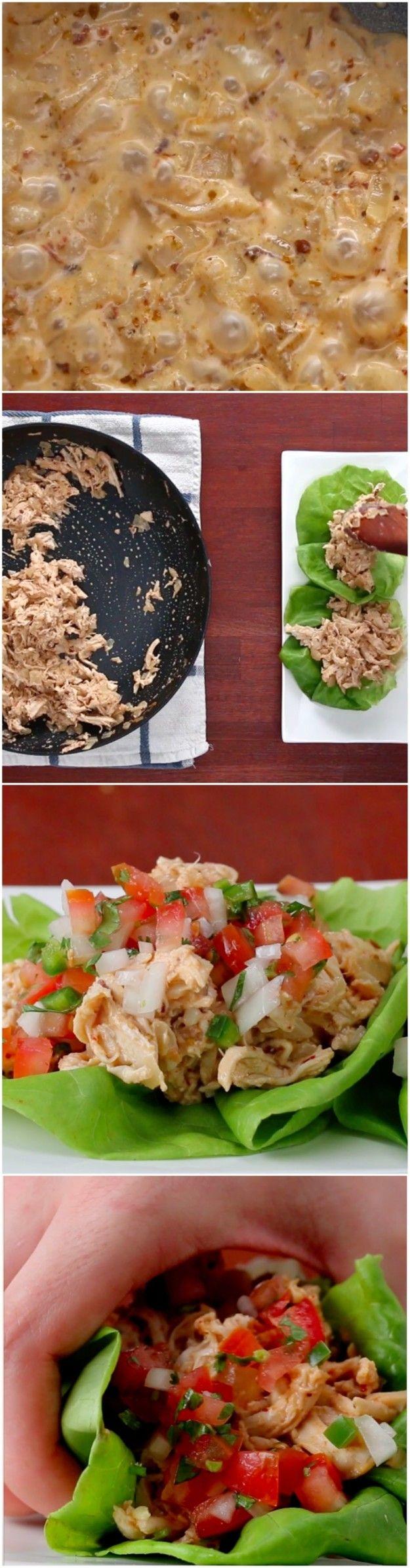Cremige Chipotle Huhn Salat Tacos | Schnappen One Of These Creamy Chipotle Huhn Salat Tacos für das Mittagessen