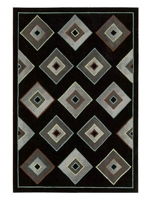 75% OFF Kathy Ireland Home Retrotimes Rug (Black)