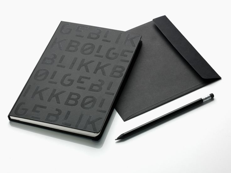 Logotype and notebook with raised print detail designed by Tank for architecture firm Bølgeblikk.