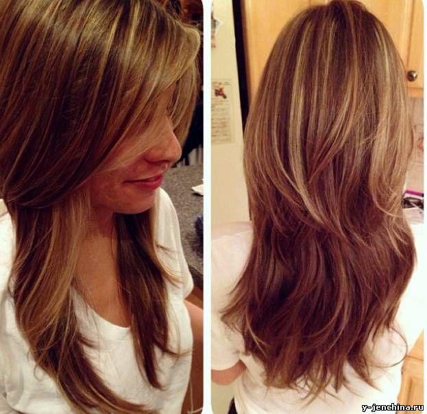 Стрижка на длинные волосы слоями