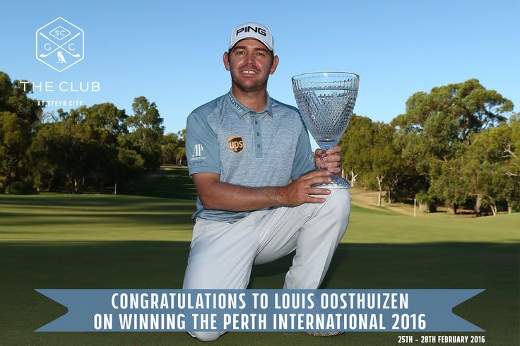 Congratulations Louis Oosthuizen on winning the Perth International 2016!