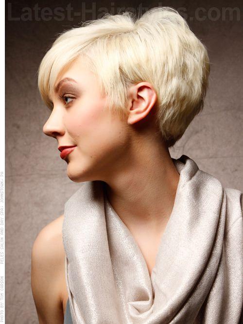 Dramatic Short Haircut For Women Side Short Hairstyles Pinterest Short Haircuts Haircut