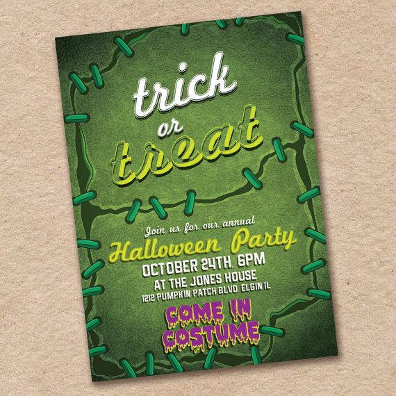 Costume Party Invitation Halloween Party by InvitingLeeLee on Etsy
