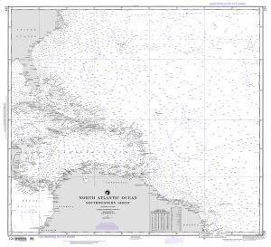 North Atlantic Ocean (Southwestern Sheet)  International Chart section  nautical chartsonline.com