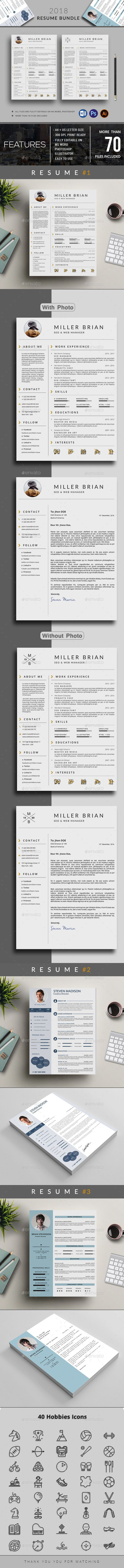 Resume #clean resume #cv resume  • Download here → https://graphicriver.net/item/resume-bundle/21185573?ref=pxcr