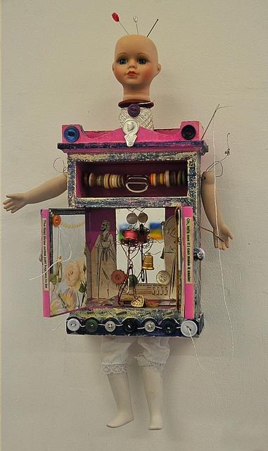 'Needle Pulling Thread' 2012 Karin McCombe Jones. NZ Artist