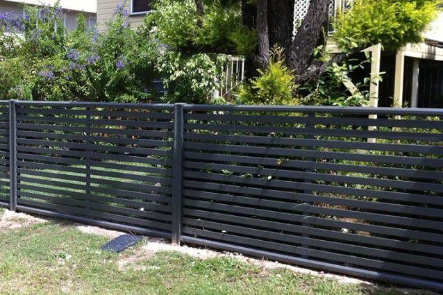 Clik'n'Fit Colorbond steel front fence.