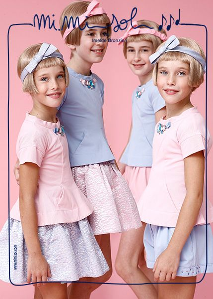 Summer and school's end are coming!  We are ready to welcome them! #MiMiSol #fashion #kids #childrenswear #imeldebronzieri #SS2014 #summer #sun #lightness #girls #sopretty
