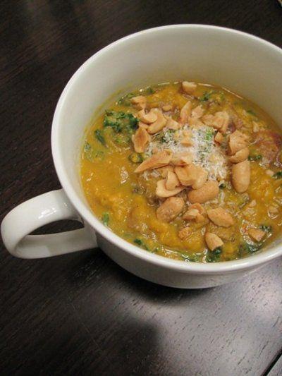 Nutty Vanilla Sweet Potato + Kale Soup