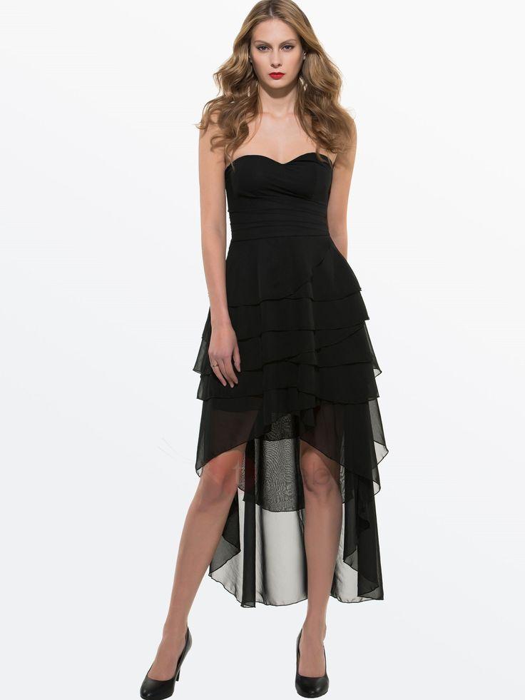 Elegante Lange Chiffon Trägerloses Kleid