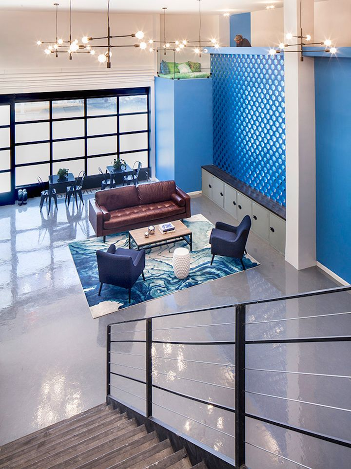 Bluecore Offices by Justin Huxol of HUXHUX, Image Source design-milk.com