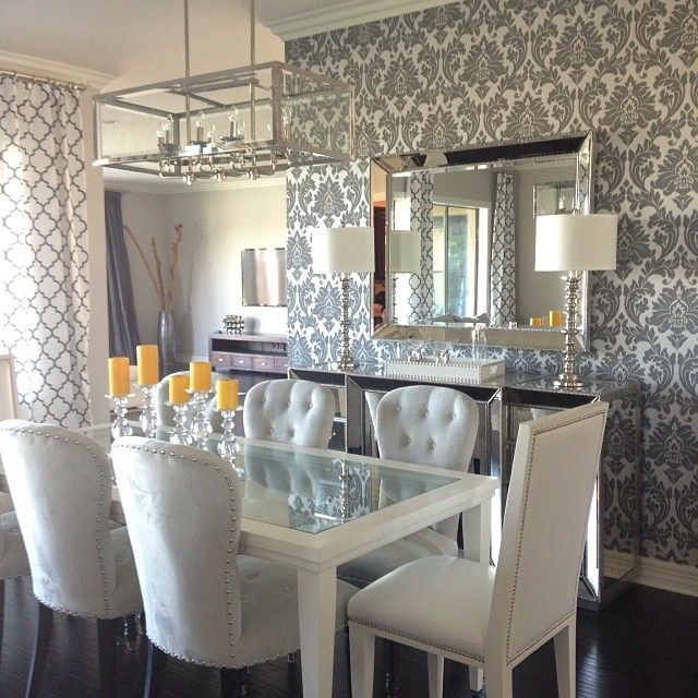 Abernathy Buffet Lamps Waterloo Concerto Dining Chairs Omni Mirror And Our Everglades Rectangular Tray In White