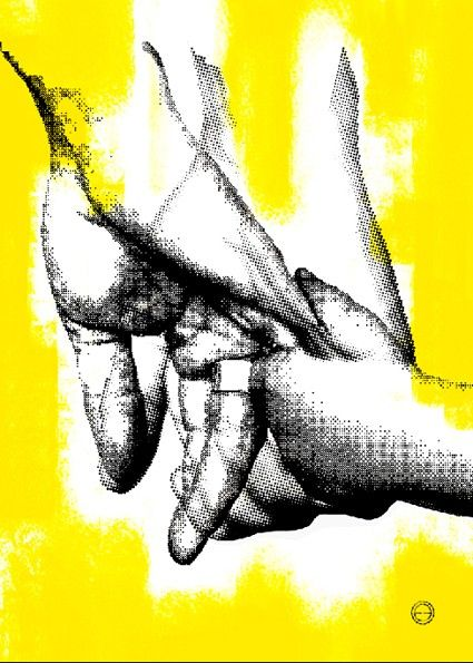 This is the poster Hands by Camilla Edfors. Beautiful digital photo art! #nordicdesigncollective #yellow #trend #trendcolor #trendcolour #easteryellow #easter #camillaedfors #hand #hands #holdinghands #poster #print #art #wallart #interiordesign #homedecor #paper #digitalart #digitalphotoart #photoart #pixel #sweishdesign