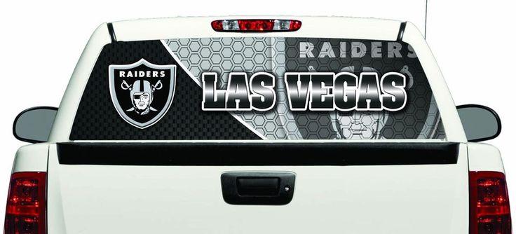 Las Vegas Raiders Pickup Truck Rear Back Window Graphic See Through Decal