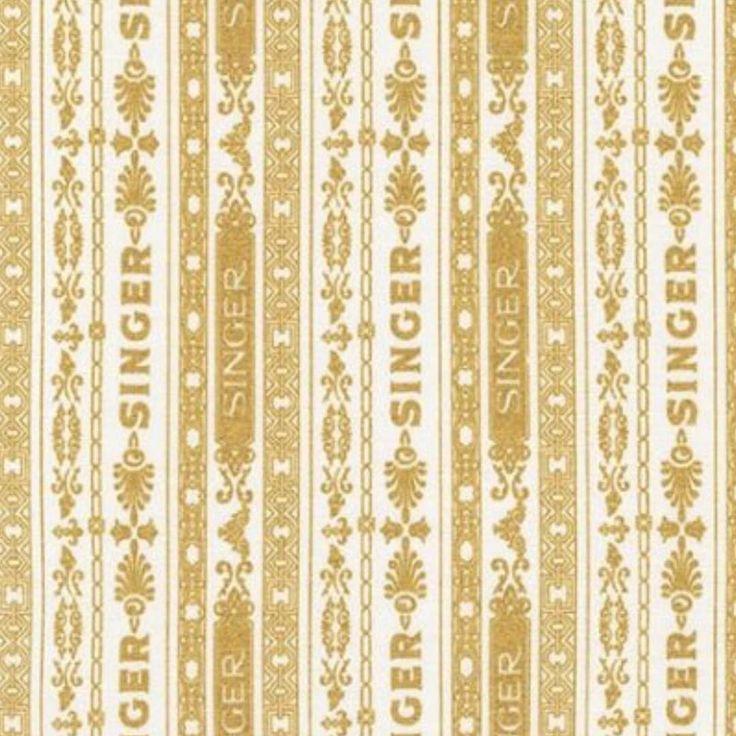 Vintage design line fabric by kaufman