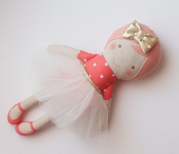 Ballerina doll with a white tulle skirt and a golden bow. by blita