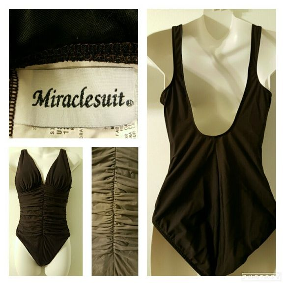 Miraclesuit brown one piece bathing suit Miraclesuit brown one-piece bathing suit. Made with compression material for the waist. Used only twice. Excellent condition. Miraclesuit  Swim One Pieces
