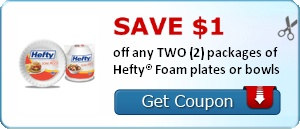 Take a break from doing dishes and head over to Dollar General for this awesome Hefty Foam Plates deal!. Your Dollar General Deal. Buy 10 Hefty Foam Plates – $ Use $3/$15 DG Survey Coupon Use five $1/2 Hefty Foam Plates, exp. 1/31/18 (RP 11/12/17 R).