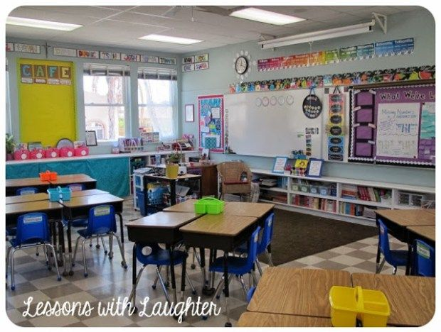 I finally have classroom pictures to share! Woo hoo! Every year I think I have my classroom set exactly the way I want it, but then when summer comes around I already have tons of changes in mind that I want to do! This year I redid my borders (I loved the turquoise scrunchy border …