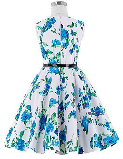 5d694b7e54f48 Kate Kasin Girls Sleeveless Vintage Print Swing Party Dresses Teens My  favorites: dresses for teens, casual dresses,wedding dresses,classy dresses,  ...