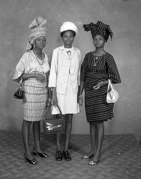 J.D. 'Okhai Ojeikere, Untitled, 1970   A mix of european and african influences #african #fashion #vintage