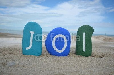 Joi, Thursday, fourth day of the week on colourful stones