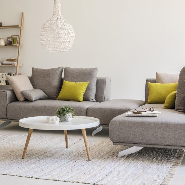 Table basse ronde laquée style scandinave, Fly - Marie Claire Maison