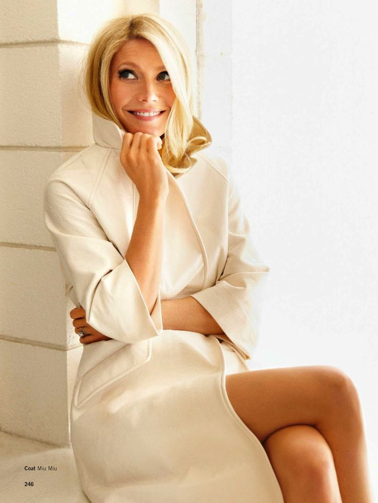 There's nothing as simple yet elegant as a gorgeous white coat for spring! gwyneth | miu miu coat