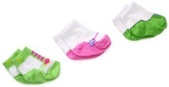 Sepatu Untuk Anak - Jefferies Baby Socks-gadis baru lahir 3 Pair Pack Socks Sepatu | Pusat Sepatu Bayi Terbesar dan Terlengkap Se indonesia