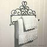 Small French Vintage Style Metal Wall Mounted Towel Rail Shabby Chic Country