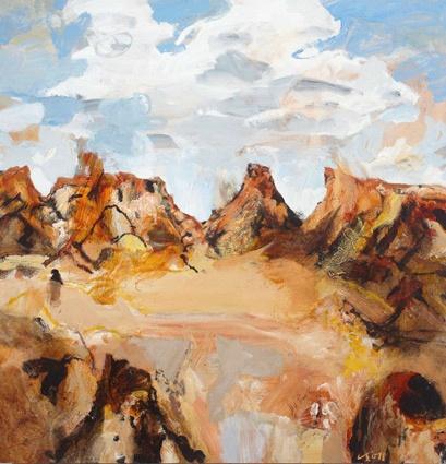 Luke Sciberras ~ East MacDonnell Ranges ~ 2011 oil on board at Tim Olsen Gallery Sydney Australia