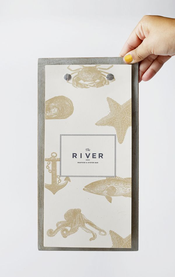 The River restaurant branding. The illustrations that accompany the material are great.