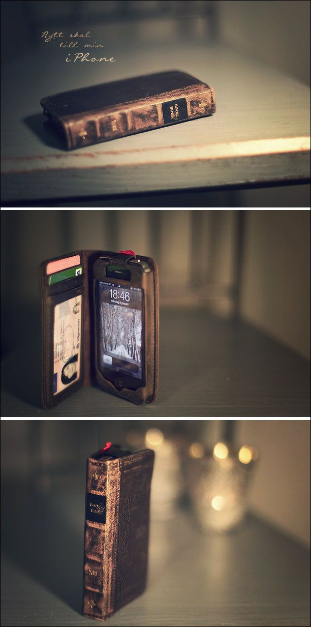 Clever iPhone case/wallet for bibliophiles [612x1233] - Imgur