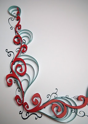 quilled calligraphic border