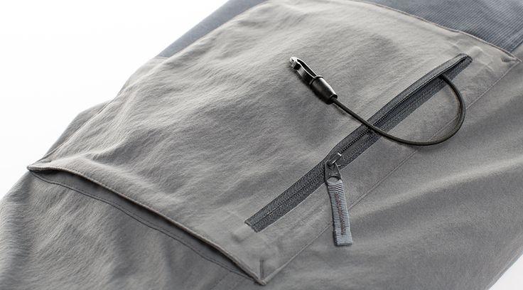 Direkter Zugriff, dank ergonomischer Anordnung der beiden Seitentaschen.